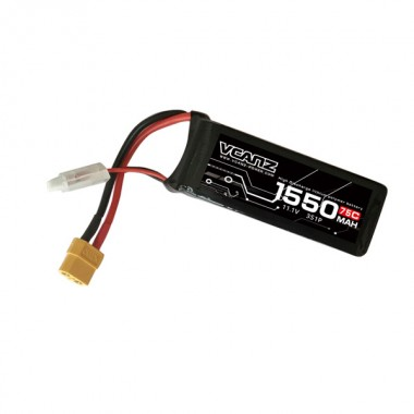 75C 1550mAh 11.1V lipo for 250 Size FPV Racing Drones