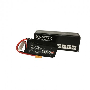 45C 1550mAh 11.1V lipo for 250 Size FPV Racing Drones
