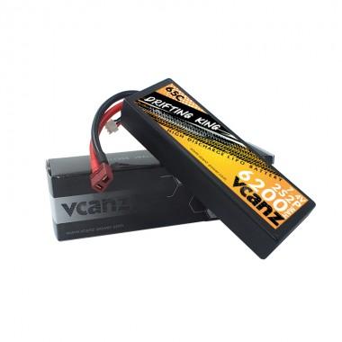 65C 6200mah 7.4V lipo Vcanz Power 2S 65C lipo for 1/10& 1/8 scalecars