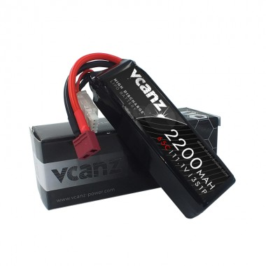 65C 2200mAh 11.1V lipo Vcanz 3S 65C lipo for 450-size Helicopter, Blade 450X, Chase 360, Gaui X3, T-REX 450/450L