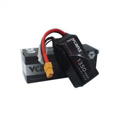 35C 1350mAh 14.8V lipo Vcanz 4S 35C lipo for Mojo 280,250-size multirotor and similiar