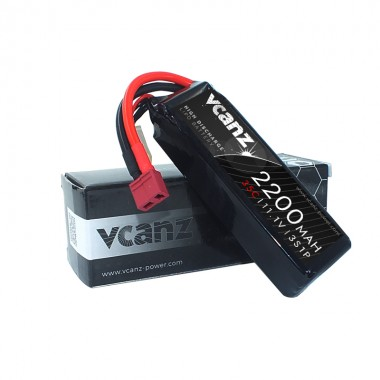 35C 2200mAh 11.1V lipo Vcanz 3S 35C lipo for 450-size Helicopter, Chase 360, Gaui X3, Mini Protos, T-REX 450/450L