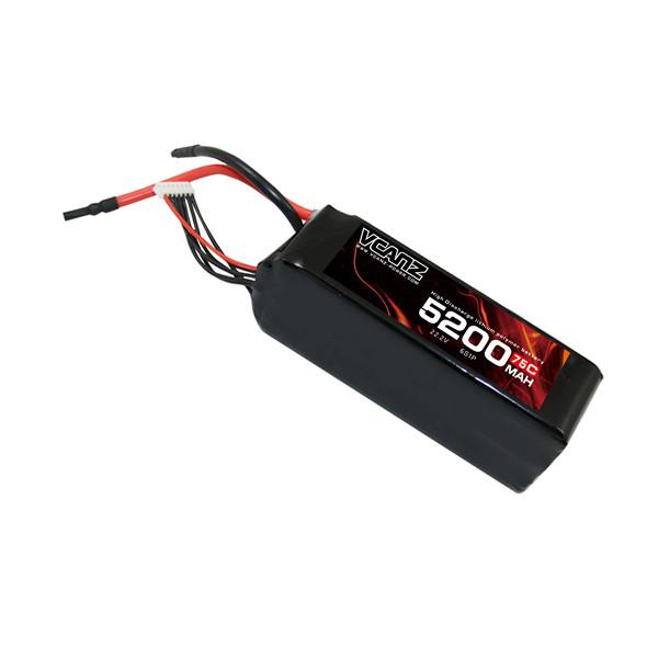 75C 5200mah 22.2V lipo Vcanz Power 6S 75C lipo