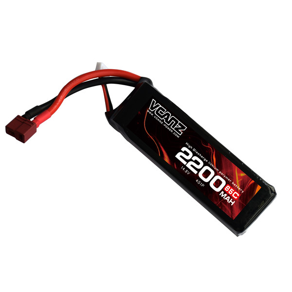 65C 2200mAh 14.8V lipo Vcanz Power 4S 65C lipo for QAV 250