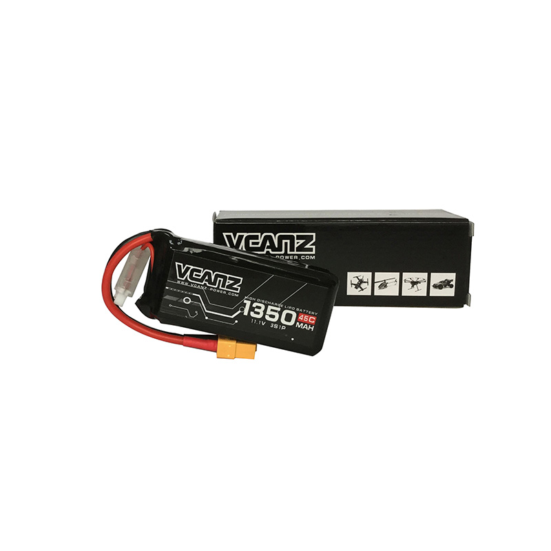45C 1350mAh 11.1V lipo for 250 Size FPV Racing Drones