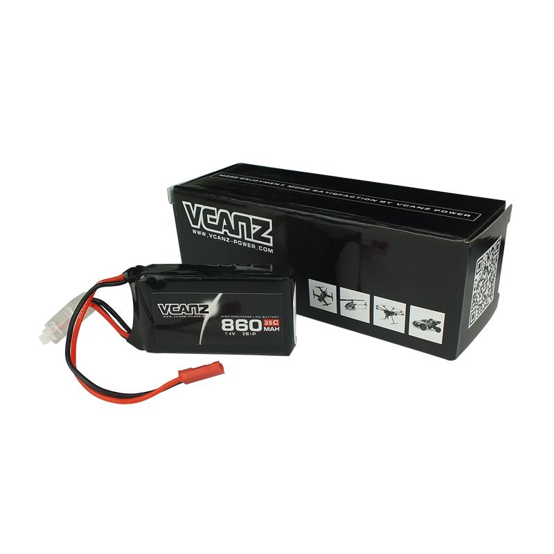 35C 860mAh 7.4V lipo Vcanz Power 2S 35C lipo