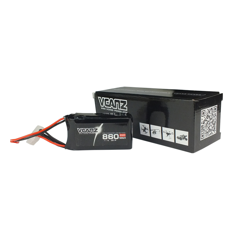 35C 860mAh 11.1V lipo Vcanz Power 3S 35C lipo for Oxy 3, QAV250