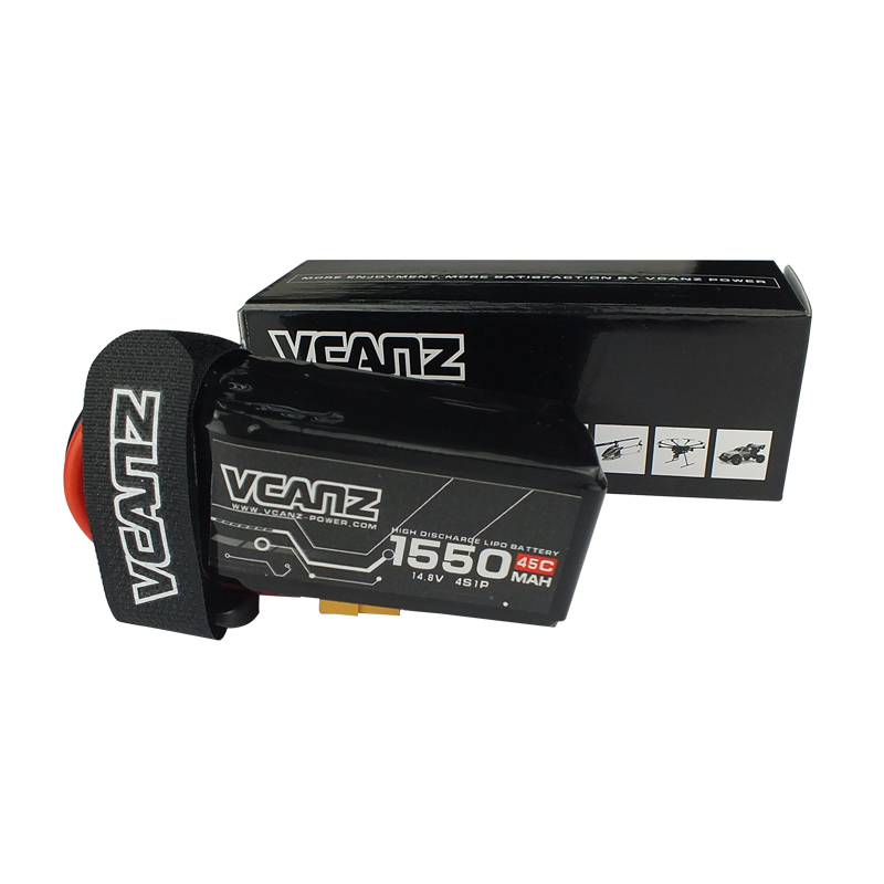 45C 1550mAh 14.8V lipo for 250 Size FPV Racing Drones