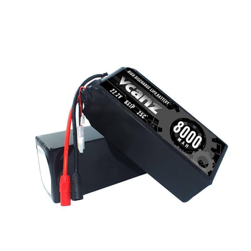 25C 8000mAh 22.2v lipo Vcanz 6S 25C lipo FOR DJI S800,DJI S800 EVO